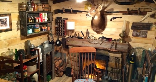 This Hunter Creates The Ultimate Man Cave For Just $100